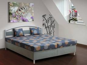 Nabytekmorava Čalúnená posteľ s úložným priestorom Bruno 170 farba čalounění: šedá/53980-1007