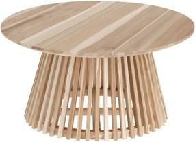Konferenčý stolík z teakového dreva La Forma Irune, ⌀ 80 cm