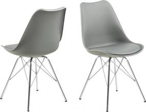 Bighome - Jedálenská stolička ERIS, sivá, strieborná