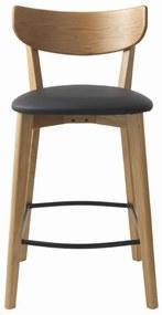 Dizajnová barová stolička Kian prírodná - čierna