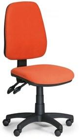 Pracovná stolička Alex bez podrúčok oranžová