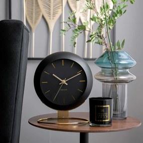 KARLSSON Stolné hodiny Globe čierne