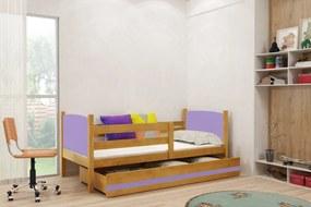 BMS Group Jednolôžková posteľ TAMI - so zásuvkou - JELŠA