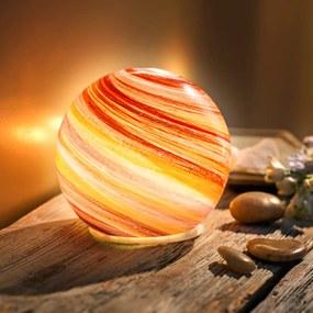 LED sklenená guľa Arancia