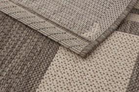 Astra - Golze koberce Kusový koberec Andria 171004 Border Silver/Black - 80x200 cm
