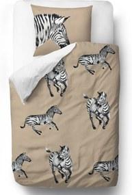 Butter Kings Saténové obliečky Zebra friends, 140 x 200 cm, 70 x 90 cm