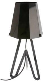 PRESENT TIME Stolná lampa Flow čierna