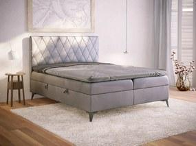 PROXIMA.store - Kontinentálna boxspring posteľ OLVERA - farba na mieru - 120/140/160/180 Veľkosť postele: Pre matrac 120 x 200 cm