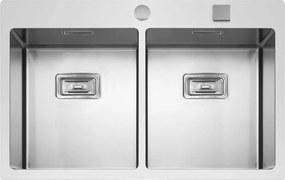 Sinks nerezový drez BOXER 755 DUO FI
