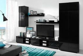 Lacný nábytok do obývacej izby GORDIA zostava 13 Čierny