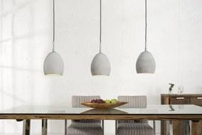 Závesné svietidlo Cement sivý 3 betón