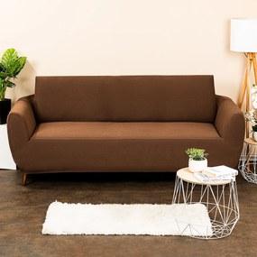 4Home Multielastický poťah na sedaciu súpravu Comfort hnedá, 180 - 220 cm