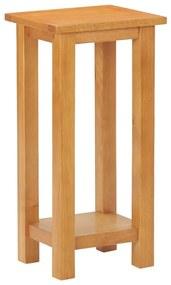 vidaXL Príručný stolík 27x24x55 cm dubový masív