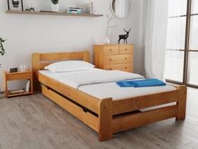 Posteľ Laura 80 x 200 cm, jelša Rošt: Bez roštu, Matrac: s matracom DELUXE 15 cm