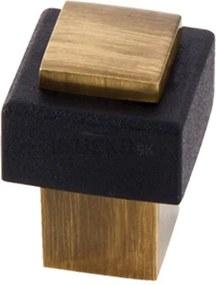 dverová zarážka hranatá bronz OKP