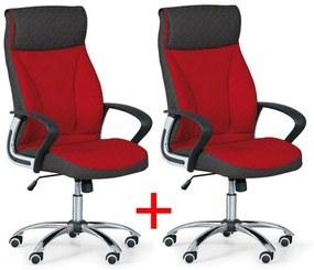 Kancelárske kreslo DERRY TEX 1+1 Zadarmo, červená