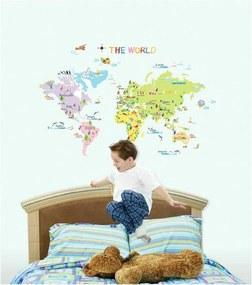 Sada samolepiek Ambiance World Map for Children