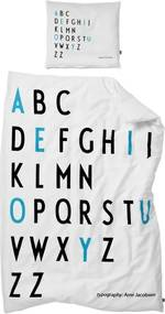 DESIGN LETTERS Obliečky Baby Letters Turquoise 70x100