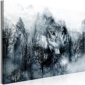 Obraz - Mountain Predator (1 Part) Wide Black and White 120x80