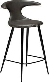 Tmavosivá barová stolička z eko kože DAN–FORM Denmark Flair