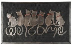 BO-MA Trading Vonkajšia rohožka Sediace mačky, 45 x 75 cm