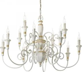Ideal Lux 093789 luster Palio Bianco 12x40W   E14