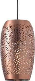 Závesné retro svietidlo Djerba Copper Ø 16 cm
