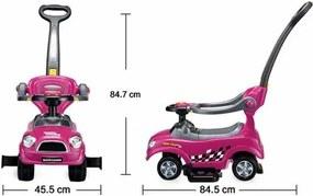 Ecotoys Detské odrážadlo Auto, ružová