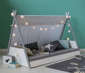 Detská posteľ Teepee - biela-sivá