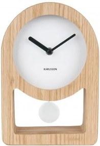 KARLSSON Stolné drevené hodiny Lena Pendulum Wood