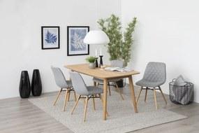 Štýlová jedálenská stolička Albin, svetlosivá