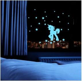 Svietiaca samolepka Fanastick Unicorn With Stars