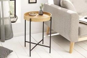 IIG -  Priemyselný príručný stolík ELEMENTS 43 cm dub, prírodný