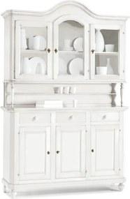 Biela šesťdverová drevená presklená komoda Castagnetti Firenze