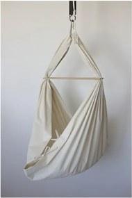 Malá krémová kolíska z bio bavlny so zavesením do stropu Hojdavak Baby (0 až 9 mesiacov)