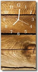 Nástenné hodiny vertikálne  hnedé drevo