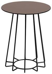 Casia príručný stolík bronz/čierna
