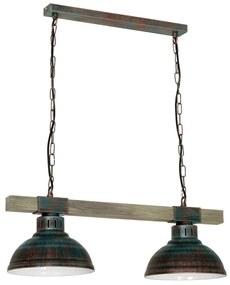 Luminex Luster na reťazi HAKON 2xE27/60W/230V patina LU9057