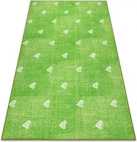 Metrážny koberec HEARTS zelený - 200 cm