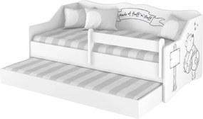 DO Detská posteľ Lulu Macko Pu s prístelkou 160x80