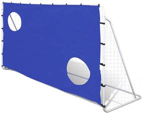 vidaXL Kvalitná futbalová bránka s otvormi na strieľanie, 240 x 92 x 150 cm