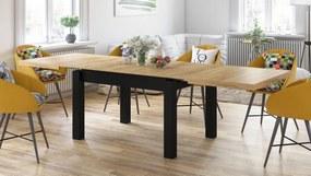 ROYAL jedálenský stôl rozkladací - zlatý dub / čierna, pre 8 osôb