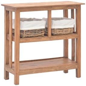 vidaXL Prístavný stolík z masívneho recyklovaného dreva 69x28x70 cm