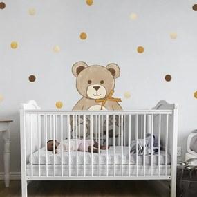 lovel.sk Nálepky na stenu Teddy - dots 57ks