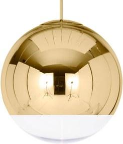 Tom Dixon Závesná lampa Mirror Ball 50 cm, gold