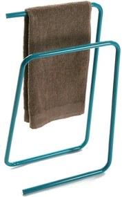 Zelený kovový stojan na uteráky Versa