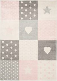 Detský kusový koberec Bodky ružový, Velikosti 300x400cm