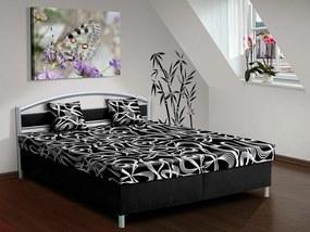 Nabytekmorava Čalúnená posteľ s úložným priestorom Bruno 170 farba čalounění: černá/ MEGA 01 černá