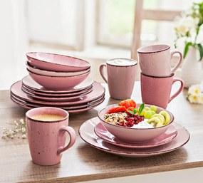 Kávový a jedálenský servis Puro, 16 dielna sada, ružová