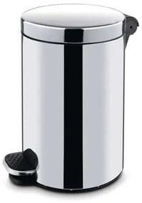 Kovové odpadkové koše Basic, objem 12 l, Kapacita: 12 L, Materiál: lesklá nehrdzavejúca oceľ, Farba: Sivá/striebro, Výška: 400 mm, Hmotnosť: 1.68 kg,